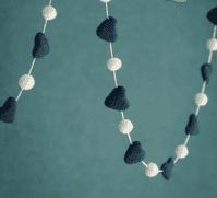 Felt Heart and Pom Pom Garland | Home Accessories